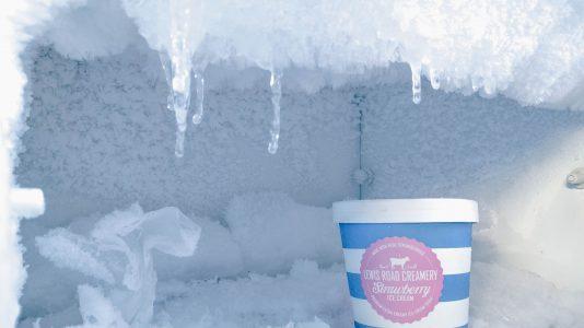 crème glacée au congélateur